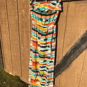 Trixxi Dresses - Strapless multi color dress